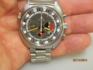 Selten Vintage Omega Seamaster Soccer Time Roulette Uhr In Stahl 40mm Uhrmacher Bild