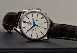 Omega Seamaster Aqua Terra Chronograph Chrono Stahlband Krokoband Chronometer Bild