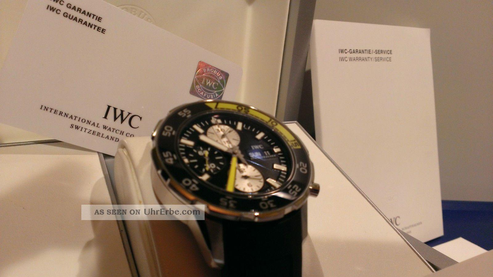 Iwc Aquatimer Chrono Ref.  376702 Stahl/rubber Ungetragen Taucheruhr Armbanduhren Bild