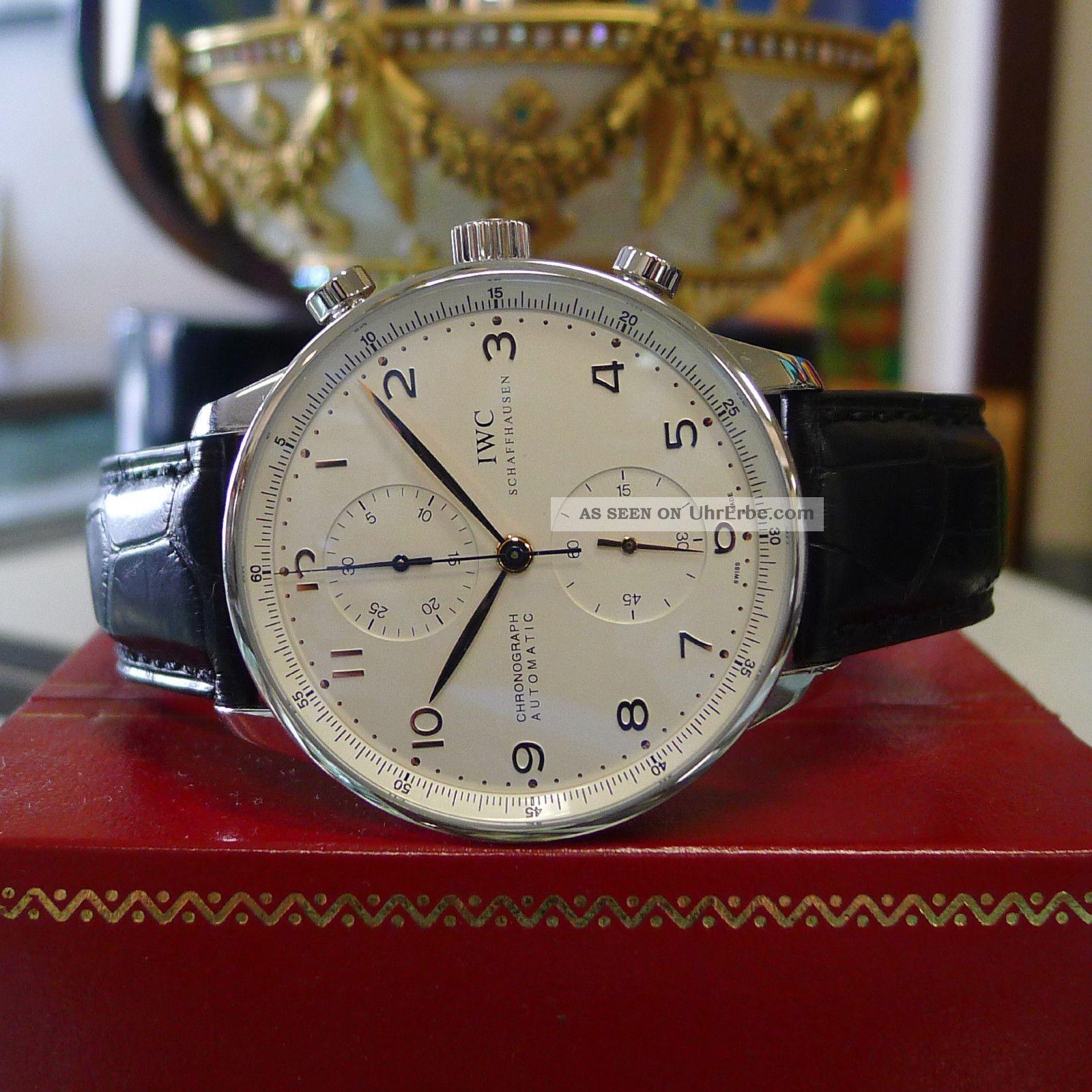 Herren Iwc Portugiesisch Automatisch Chronograph Edelsahl Anzug Uhr Armbanduhren Bild