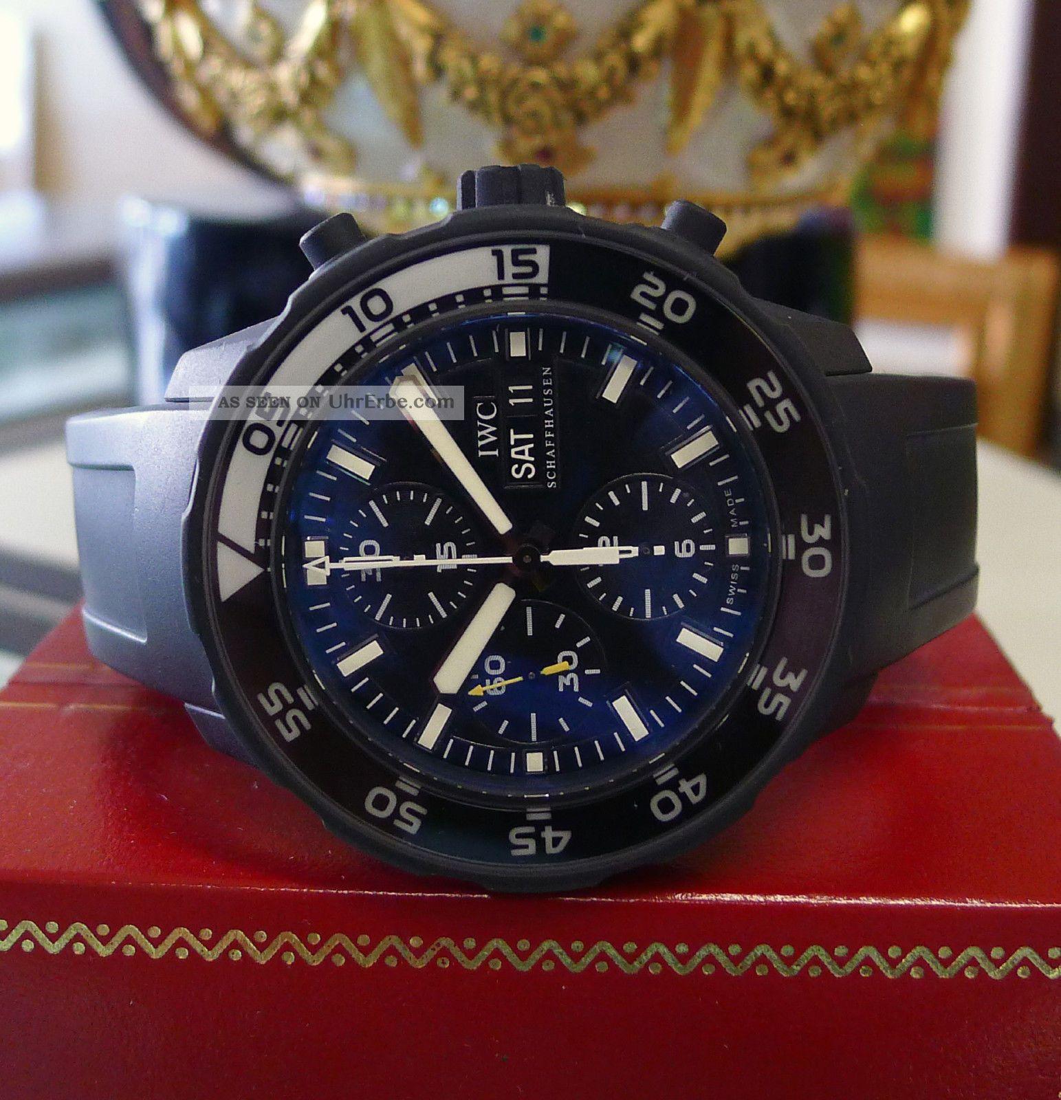 Herren Iwc Aquatimer Limitierte Ausgabe Galapagos Islands Chronograph Uhr Armbanduhren Bild