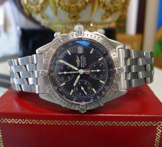 Herren Breitling Chronomat Blackbird A13050 Limitierte Auflage Edelstahl Uhr Bild
