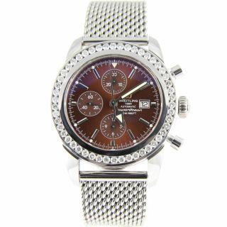 Breitling Superocean Heritage Chrono 46 A13320 3.  50k Diamanten Herren Armbanduhr Bild