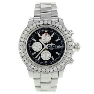 Armbanduhr Herren Breitling Avenger Ii A13371 7.  5k Diamant Automatik Bild