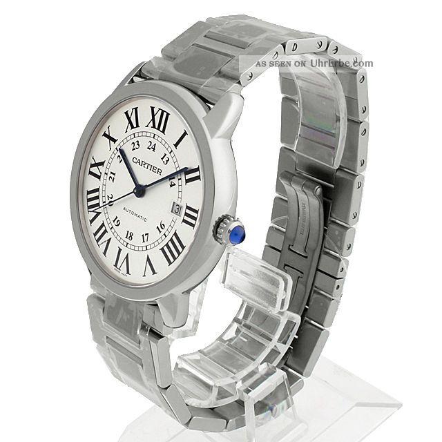 Herren Armbanduhr Cartier Rone Solo Xl Stahl Schick W6701011 Armbanduhren Bild
