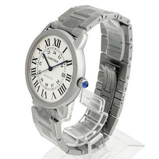 Herren Armbanduhr Cartier Rone Solo Xl Stahl Schick W6701011 Bild