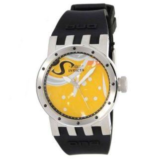 Damen Armbanduhr Invicta Swiss Dna Gelb Einzigartiges Ziffernblatt Kunst Bild