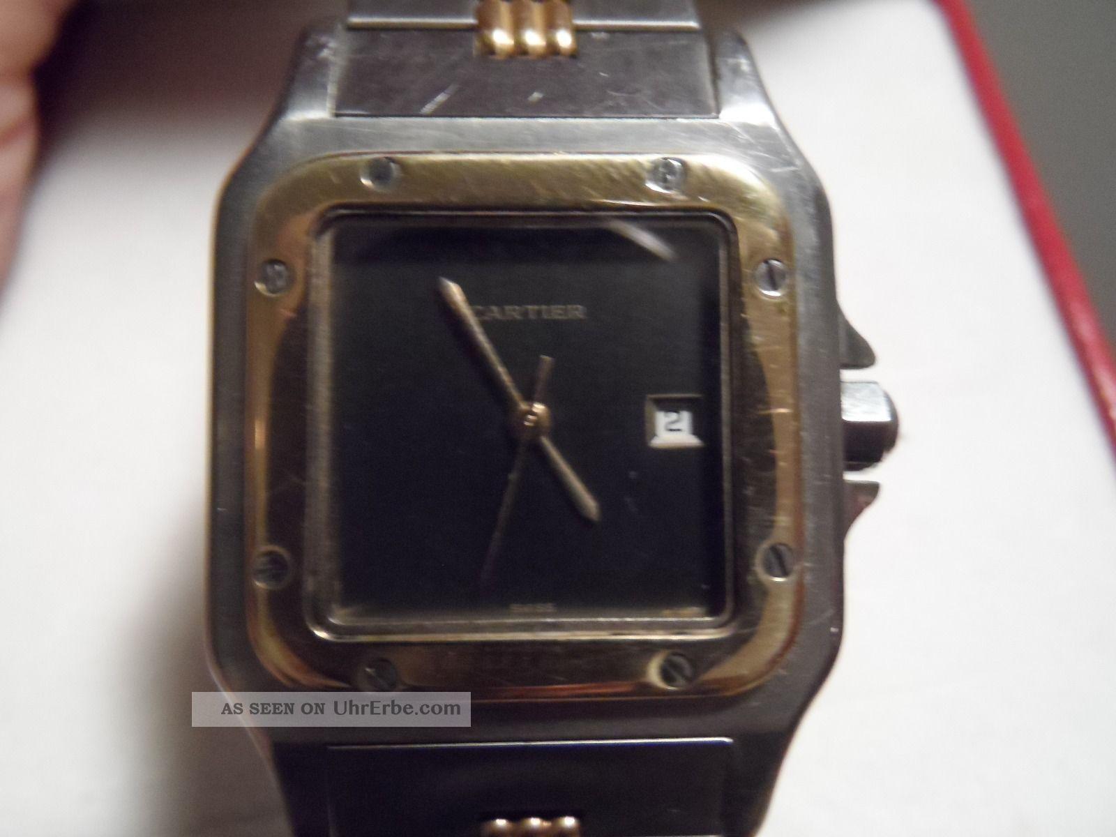 Cartier Santos Stahl/gold Armbanduhren Bild