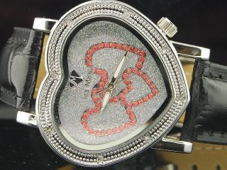 Damen Armbanduhr Ice Mania Jojo Jojino Joe Rodeo Diamant Herz Weiß Im1302 Bild
