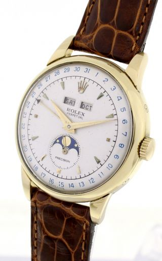 Rolex Padellone Ref.  8171 In 18ct Gold - Moonphase Triple Date - Extrem Selten Bild