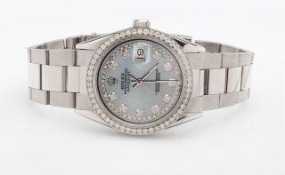 Edelstahl Rolex Zeitpunkt Nur Diamant Lünette Zifferblatt Rolex - Uhr Bild