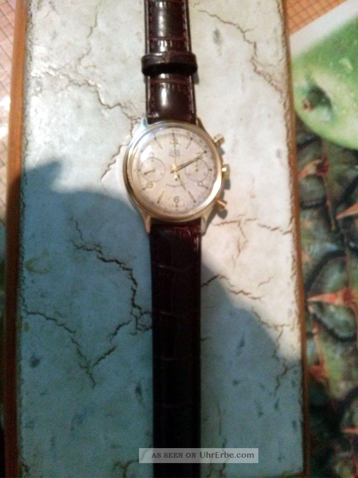 Gub Glashütte Chronograph Kaliber 64 Armbanduhren Bild