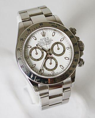 Rolex 116520 Daytona Stahl Weiß M Serie Mit Rehaut Gravur Bild