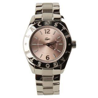 Damen Edelstahl Quartz Armbanduhr Lacoste 2000713 Biarritz Rosa Ziffernblat Bild