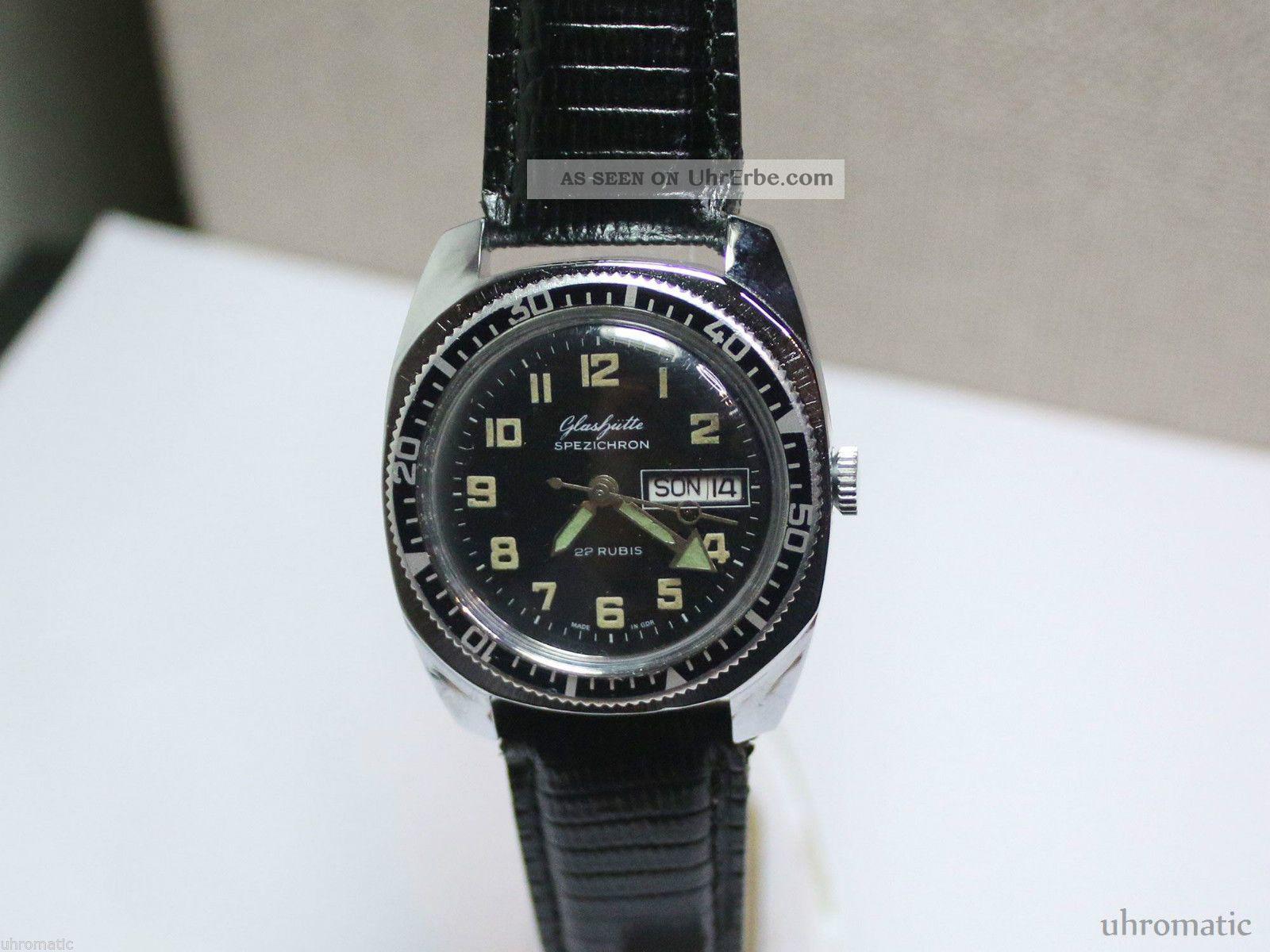 Massive Herrenuhr /men ' S Wrist Watch/ Glashütte Spezichron.  Kaliber 11 - 27 Armbanduhren Bild
