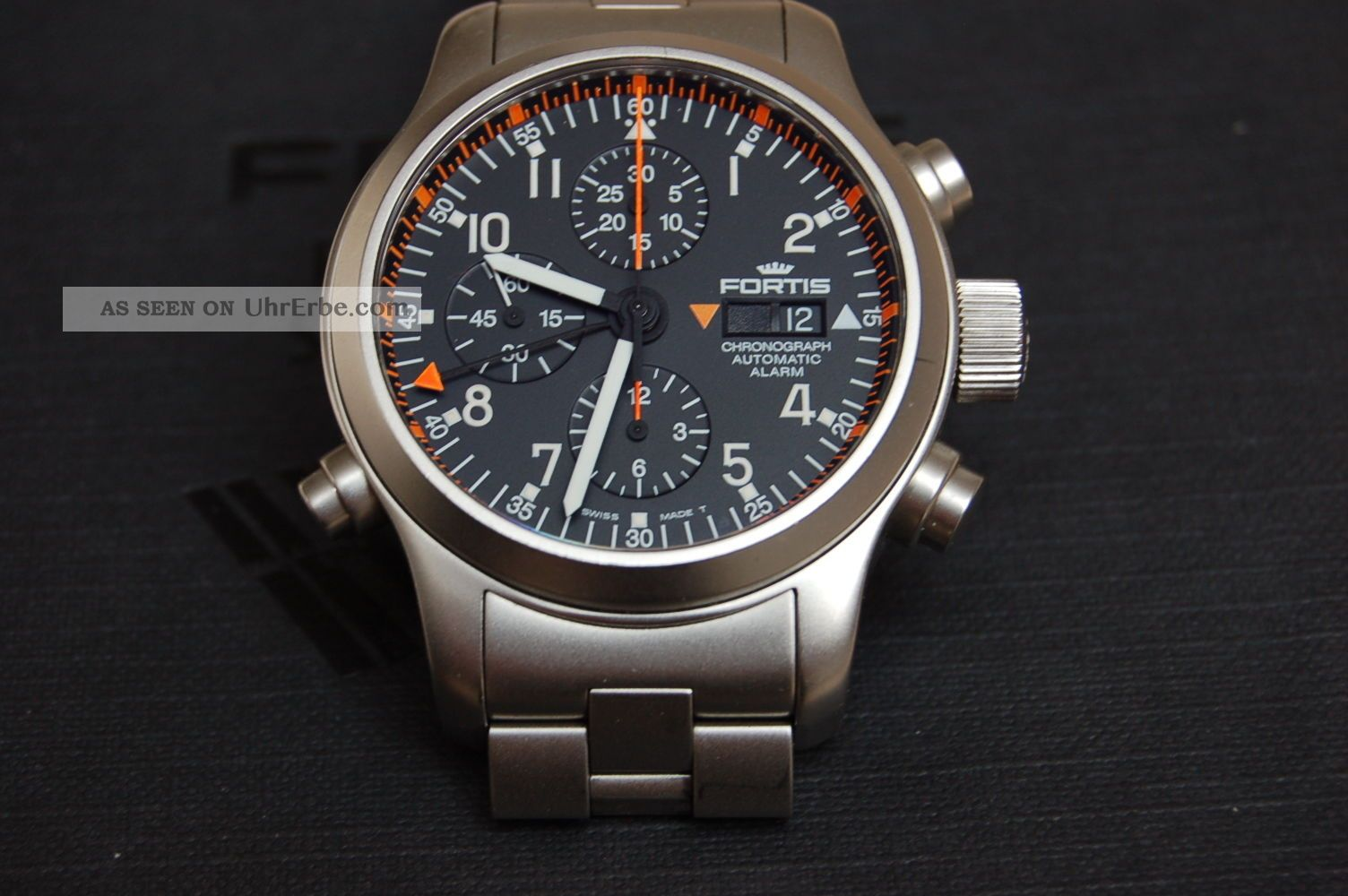 Fortis B - 42 Pilot Professionel Chronograph Alarm Np 7595.  - Armbanduhren Bild