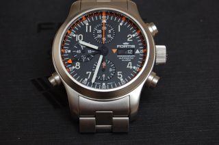Fortis B - 42 Pilot Professionel Chronograph Alarm Np 7595.  - Bild