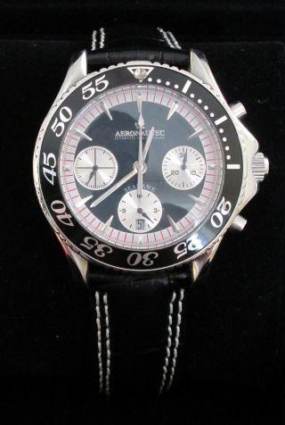 Noch Nie Getragene Automatikuhr Aeronautec Chronograph Im Bild