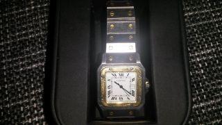 Cartier Santos Automatik Damen Und Herren Uhr - Stahlgold - Bild