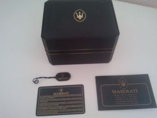 Maserati Official Timepiece Neptune Chronograph Uhr Watch Automatic Valjoux 7750 Bild