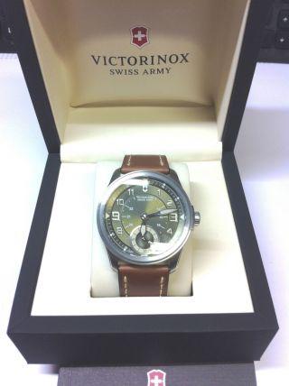 Victorinox 241376 Herrenchonograph Mit Braunem Lederband Bild