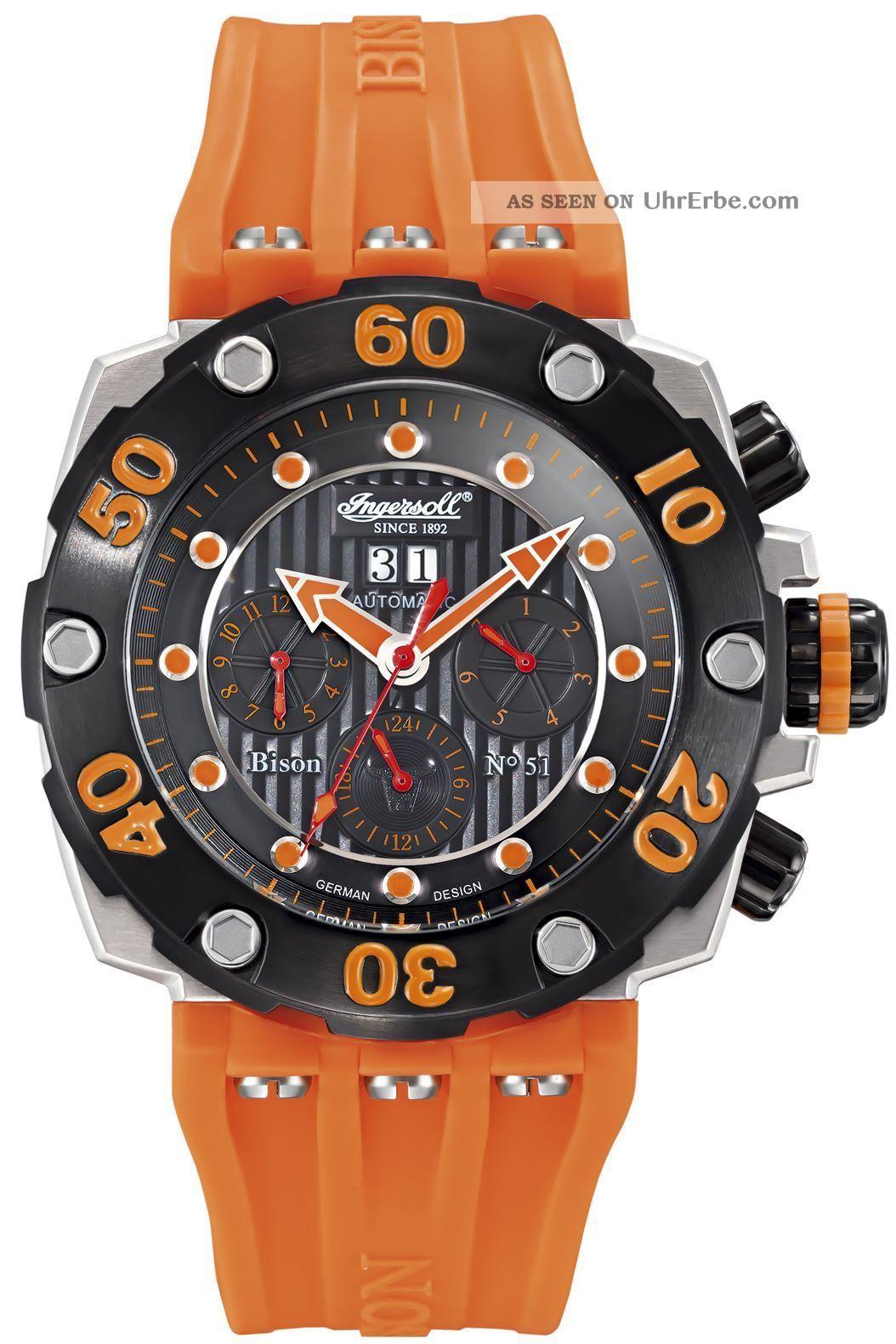 Ingersoll - Bison N0.  51 - In2502or Herrenarmbanduhr Und Armbanduhren Bild
