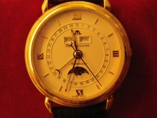 Herren - Armbanduhr,  M.  Lacroix - Mondphase M.  Vollkalender,  Automatic,  Glasboden Bild