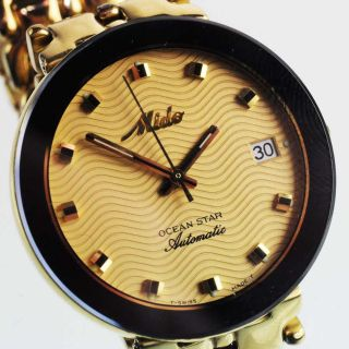 Mido Ocean Star Automatik Watch Herren Armbanduhr Stahl Vergoldet Ref.  629 - 8710 Bild