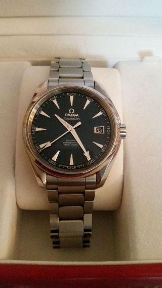 Omega Seamaster Aqua Terra 42 Mm Herren Chronometer Co - Axial Bild