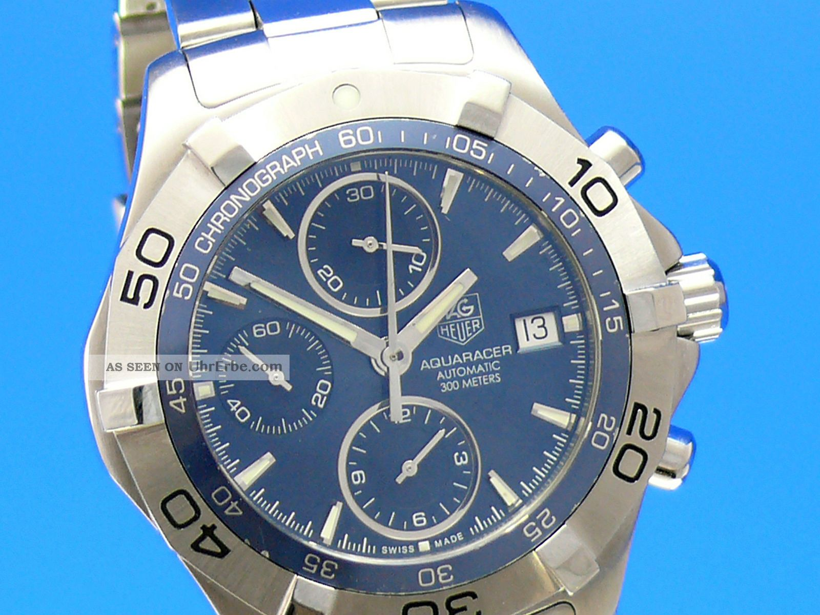Tag Heuer Aquaracer Date Chronograph 41 Mm Caf2112 Vom Uhrencenter Berlin Armbanduhren Bild