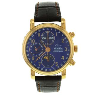 Automatische Herren Uhr Oscar Waldan Chronograph 18k Rose Gold Bild