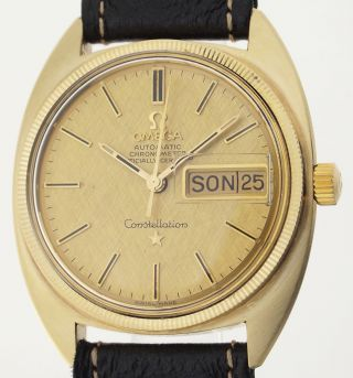 Omega Constellation Automatic Kaliber 751 - Herrenuhr Mit Goldhaube - 1970er J. Bild
