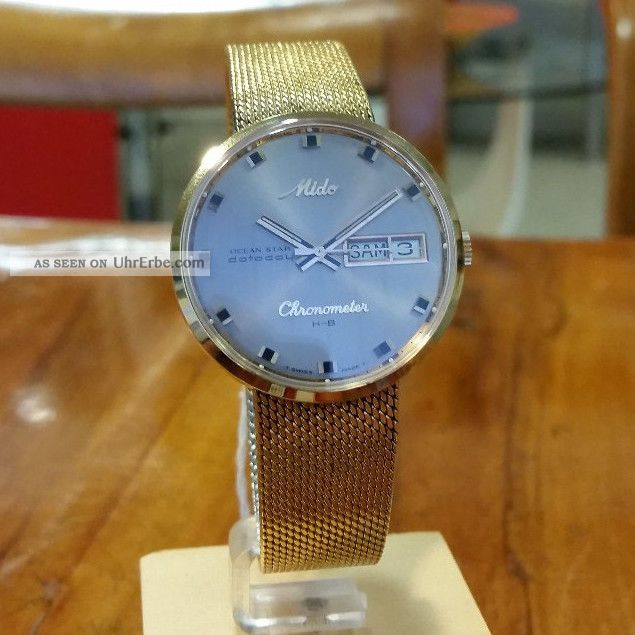 Mido H - B Chronometer Ref 9369 - 36.  000 A/h Armbanduhren Bild