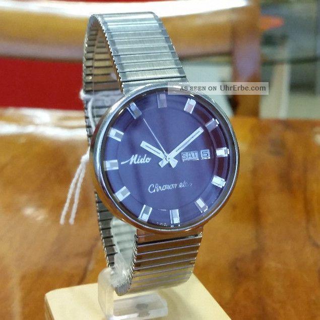 Mido Chronometer Automatik Cal.  1189 Armbanduhren Bild