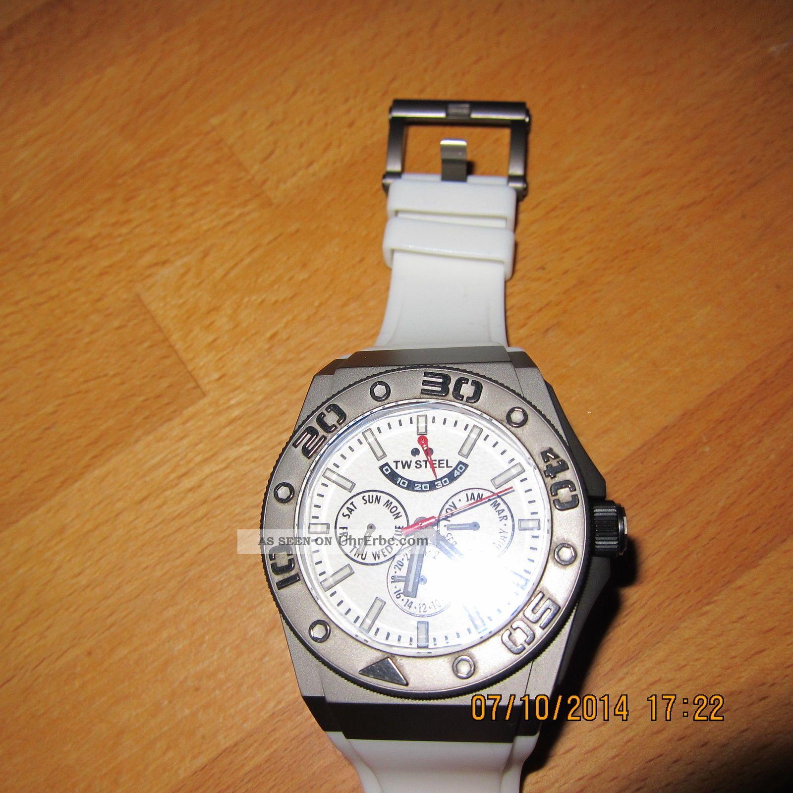 Tw Steel Wie Twce 5003 Ceo Diver Automatik Herren - Armbanduhr Weiss Armbanduhren Bild
