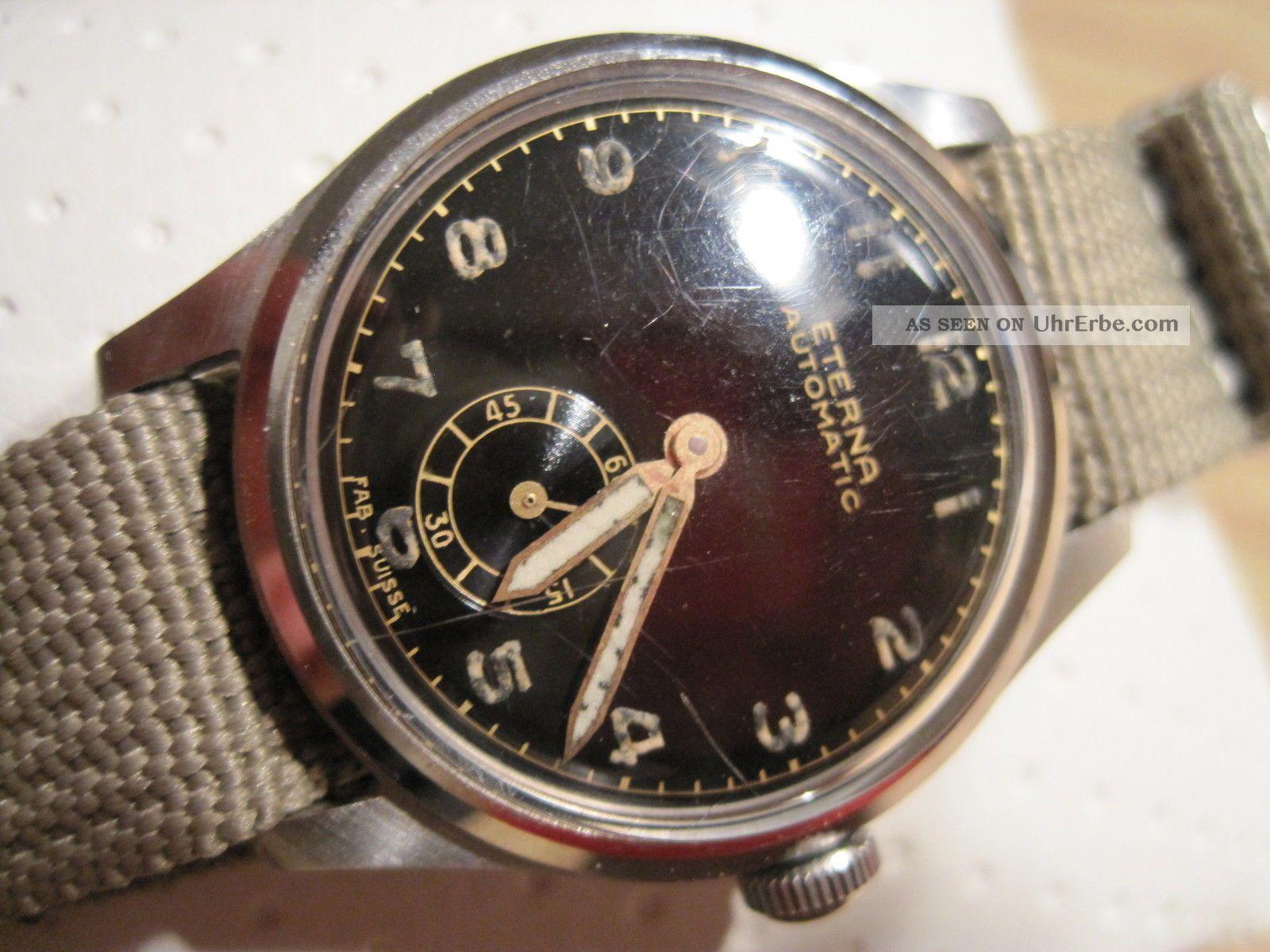 Eterna Automatic 2wwk Offiziersuhr Aus Den 40er Jahren Armbanduhren Bild