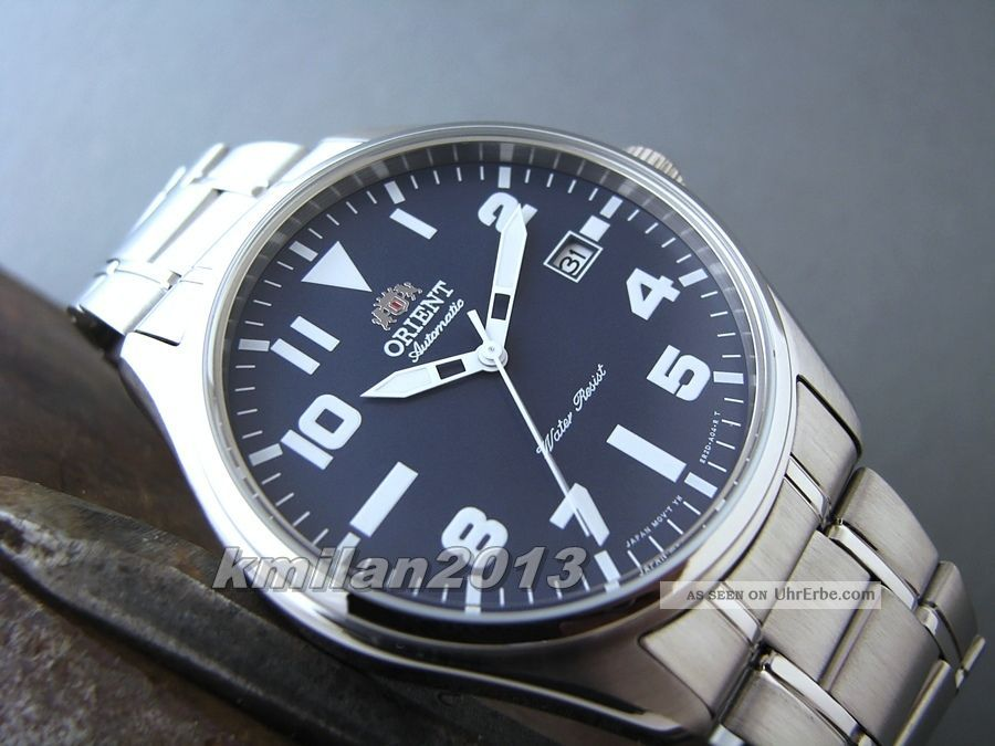 Orient Classic Edelstahl Uhr Automatik Herrenuhr Mit Datum Fer2d006d0 Armbanduhren Bild