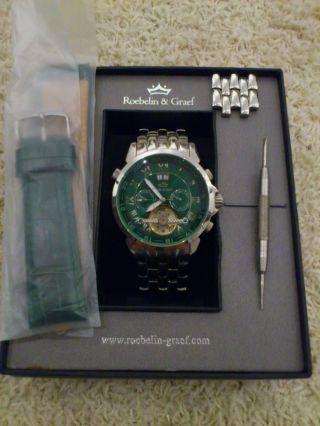 Roebelin & Graef Automatikuhr,  Armbanduhr,  Grünes Ziffernblatt Bild