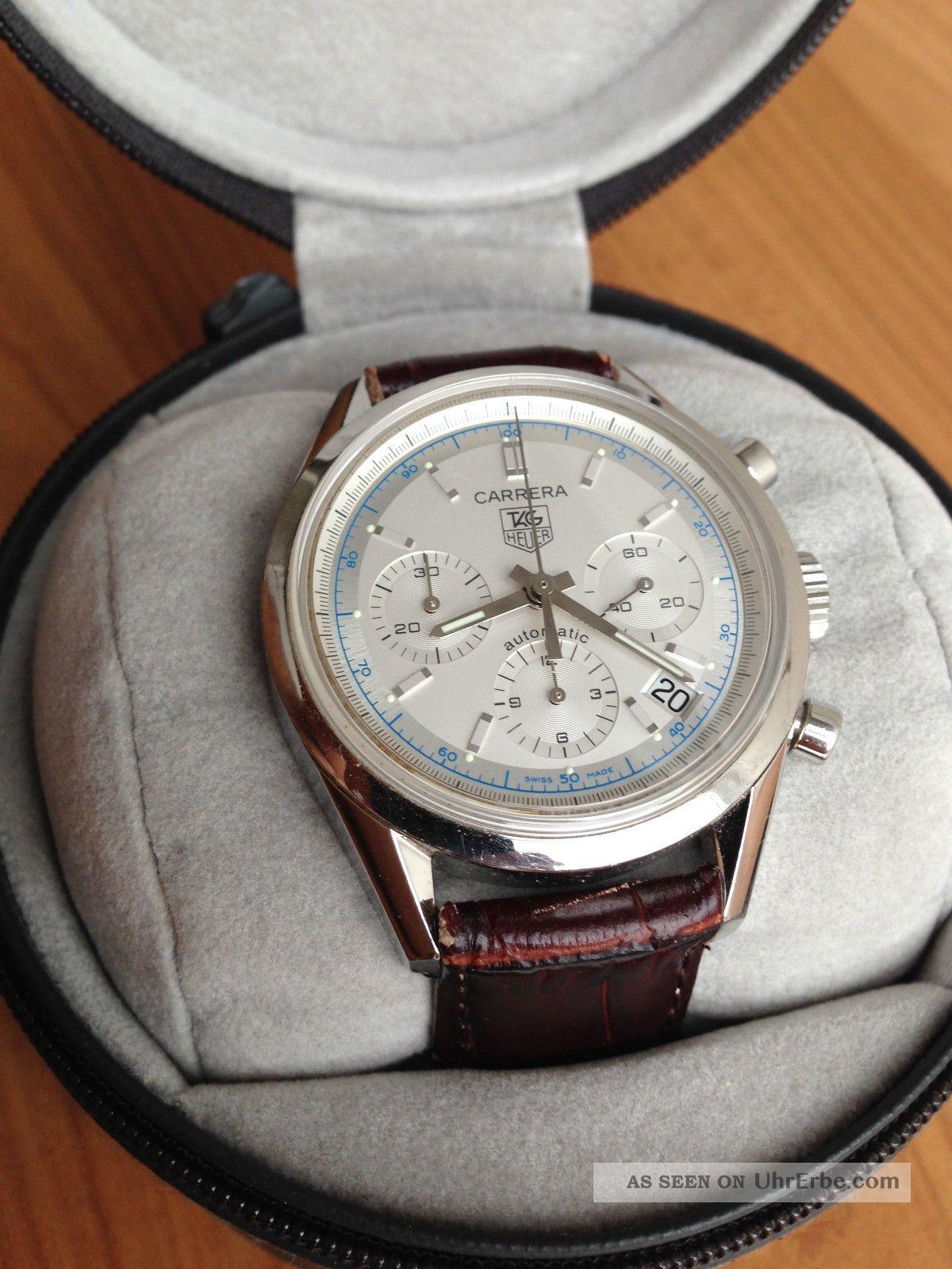 Tag Heuer Carrera Cv2110 - 0 Chronograph Mit Zertifikat Box Garantiekarte Armbanduhren Bild