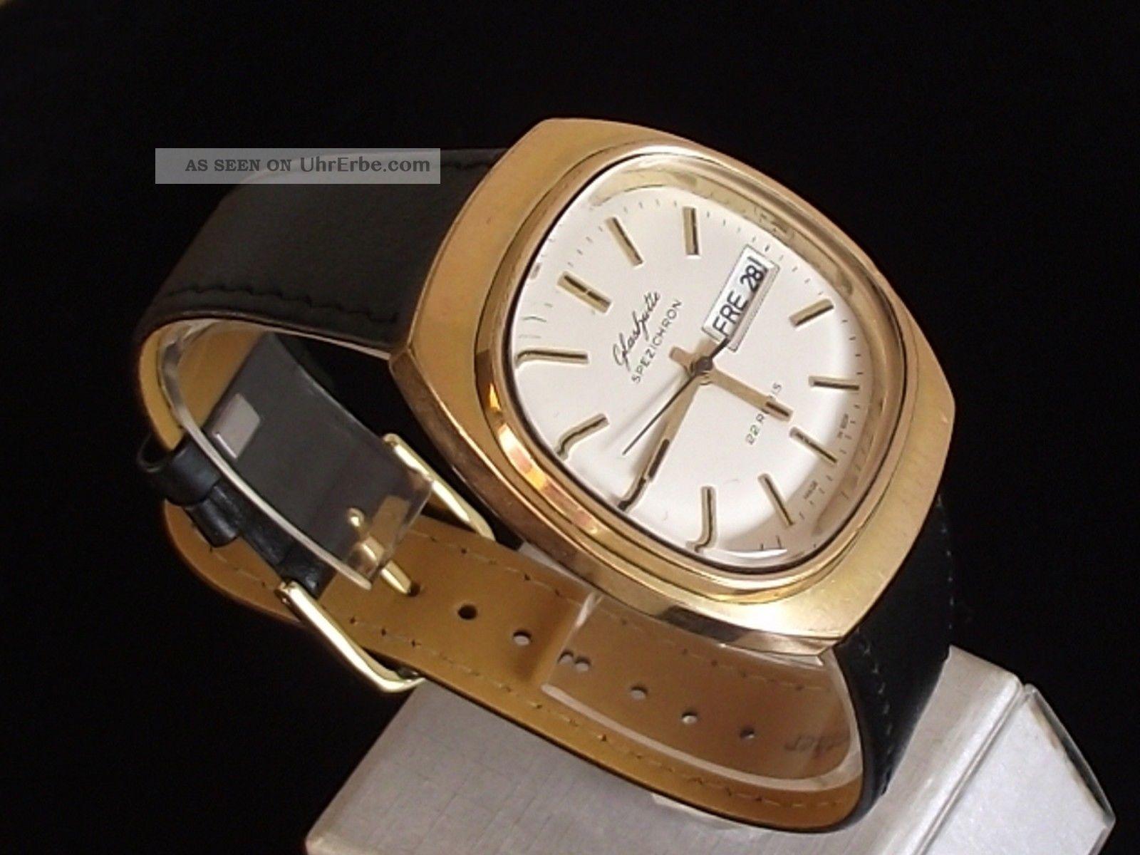 Große,  Tolle Gub GlashÜtte Spezichron Daydate 11 - 27 Herrenuhr - Kultuhr Um 1974 Armbanduhren Bild