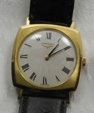RaritÄt Longines Armbanduhr Uhr 750er Gold Sammlerstück Handaufzug Bild
