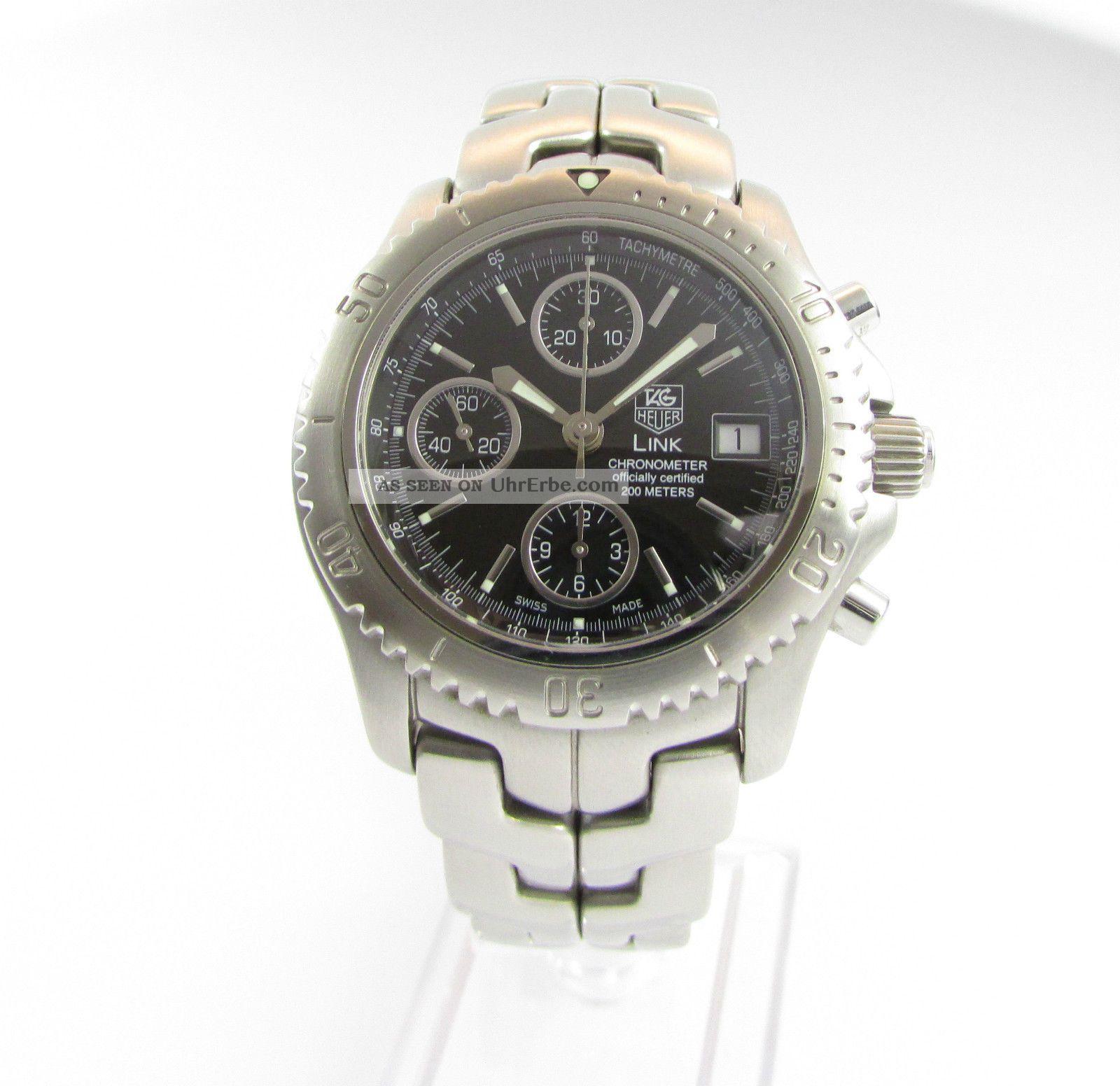 Tag Heuer Link Professional Automatik Chronograph - Seltene Chronometer Ausführung Armbanduhren Bild