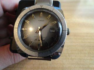 Timex Automatik Herrenuhr Mit Altem Edelstahl Gliederband Expandro Bild