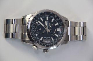 Orient Automatik Herren Armbanduhr Dh01 - Co - Aca Silber Mit Blau/schw.  Zifferblatt Bild