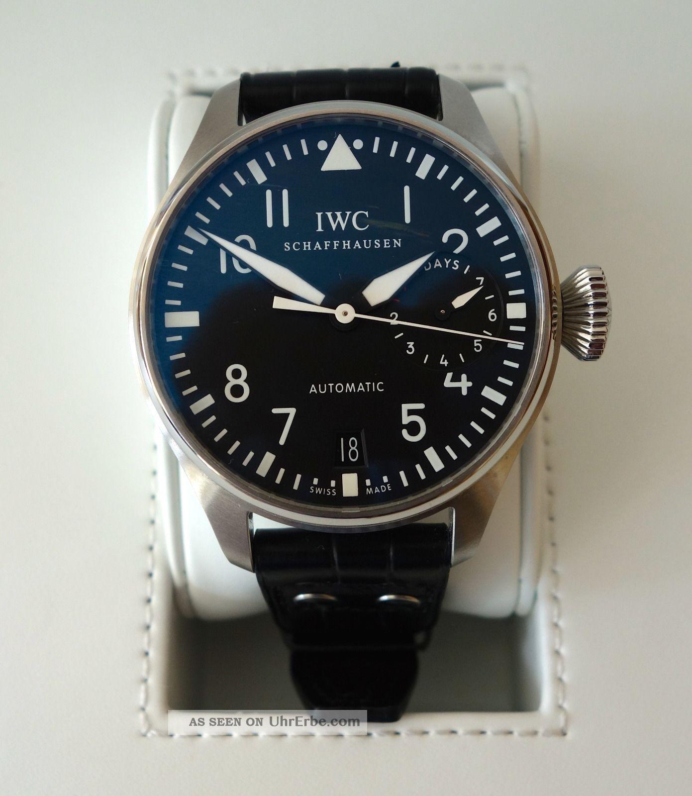 Iwc Grosse Fliegeruhr Iw500901 Armbanduhr Für Herren Armbanduhren Bild