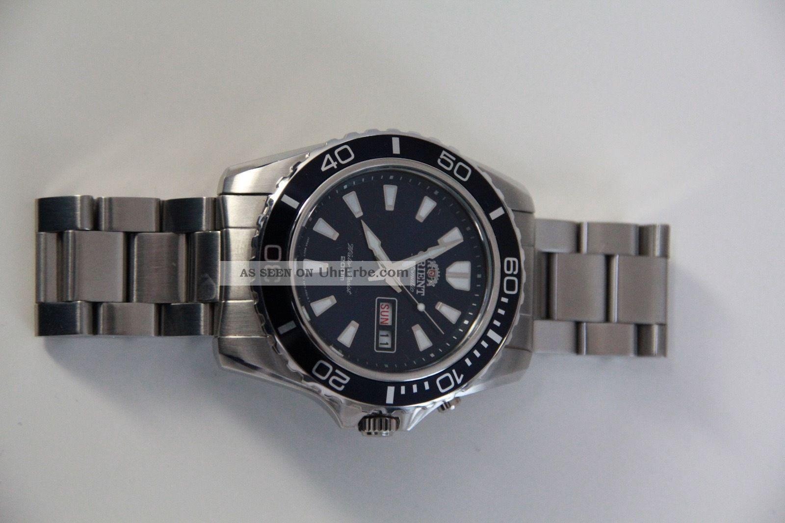 Orient Automatik Herren Armbanduhr Em75 - C1 - A In Silber Mit Blaum Zifferblatt Armbanduhren Bild