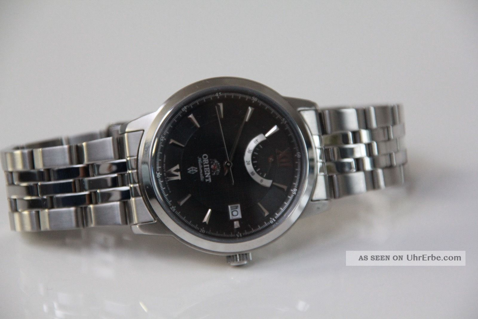 Orient Automatik Herren Armbanduhr Ej02 - Co - A Silber Mit Schwarzem Zifferblatt Armbanduhren Bild