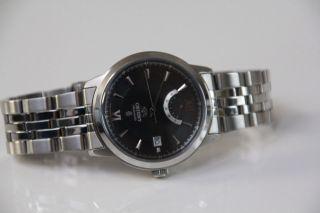 Orient Automatik Herren Armbanduhr Ej02 - Co - A Silber Mit Schwarzem Zifferblatt Bild
