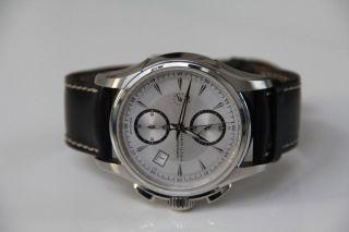 Hamilton Herren Automatik Armbanduhr H326160 Mit Silbernem Zifferblatt Bild