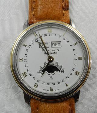 Blancpain Stahlgold Armbanduhr Uhr Automatic Mondphase Bild